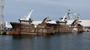 Danish fishing trawlers. (Wikipedia photo)