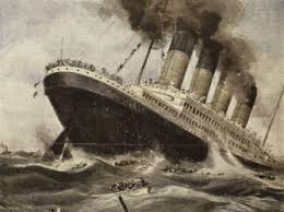 The ship-sinking episode in Pep: The Story of a Brave Dog appears to have been based on the 1915 sinking of the Lusitania (artist's rendition above).