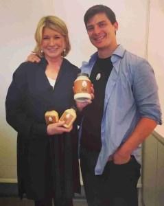 Martha Stewart & Josh Tetrick (Facebook photo)