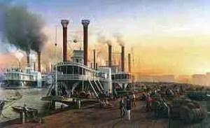 Sugar Levee, New Orleans, 1853.