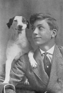 Nimrod the dog with Royal Dixon.