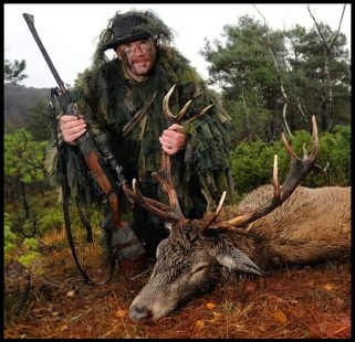 Kurt Willy Oddekalv poses with elk