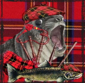Scottish seal with bagpipes