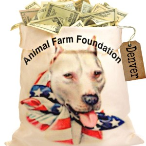Animal Farm Foundation money bag