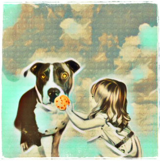 Girl with pit bull