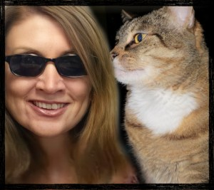 Betsy Denhart with Monkey cat