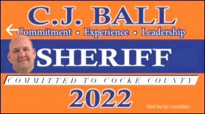 CJ Ball for Cocke County, Tennessee Sheriff
