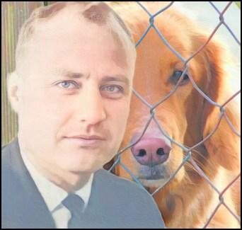 Warren Cox 1970 with dog