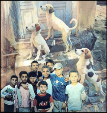 Children and dogs of Kabul, Afghanistan
