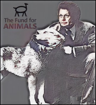 Cleveland Amory and a wolf