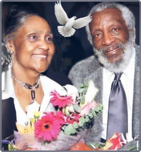 Dick Gregory with gracious, Wife Lillian Gregory