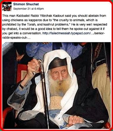 Rabbi on Kaporos