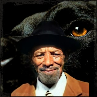 Frank Cobb with black pit bull