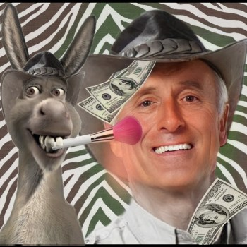 Jack Hanna with donkey
