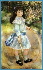 Girl with a hoop (1885), Renoir.