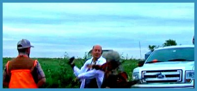 "SHARK founder Steve Hindi was assaulted while documenting Senator James Inhofe's 2016 ""dove hunt"" on September 10, 2016. (SHARK photo)"