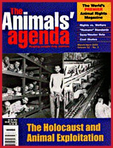 ANIMALS 24-7 editor Merritt Clifton was news editor at Animals' Agenda, 1988-1992, but departed a decade before this 2002 cover was published.