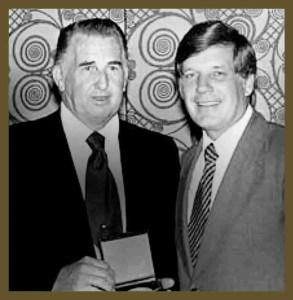 Mel Morse surrendered the HSUS presidency to former minister John Hoyt. (HSUS photo)