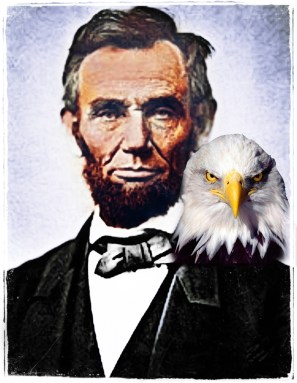 President Abraham Lincoln with eagle.