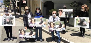 San Francisco protest for Project Chimps