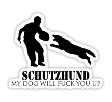 Logo sold online speaks to one common schutzhund mentality.
