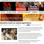 Super floods in Pakistan:  question mark on animal agriculture