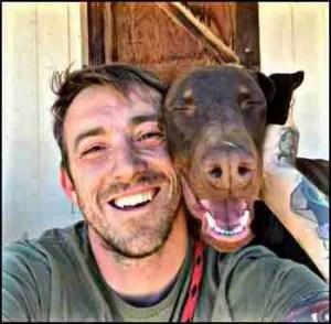 Steffen Baldwin and dog