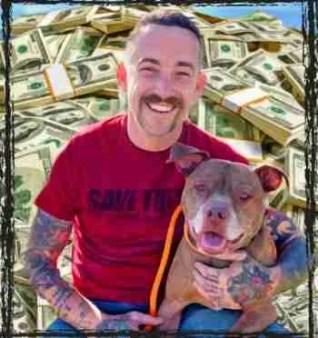 Steffen Baldwin and pit bull