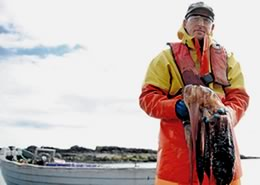 George Pullar in 2013, complaining about abundance of jellyfish in depleted Scottish waters. (Usan Salmon photo)