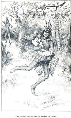 Illustration from Virginia Dare: A Romance of the Sixteenth Century, 19th century novel by Mrs. E.A.B. Shackelford.