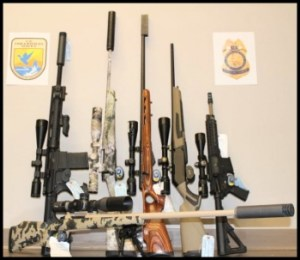 Weapons confiscated by US Fish & Wildlife service