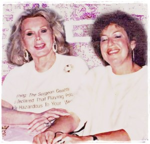 Zsa Zsa Gabor and Lori Golden