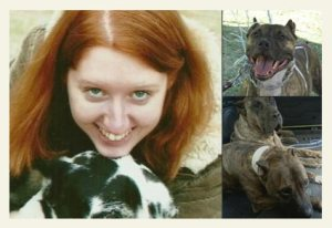 Rebecca Carey & her dogs.  (Scorched Earth)