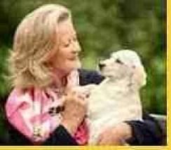 Clarissa Baldin with another friend. (Dogs Trust photo.)