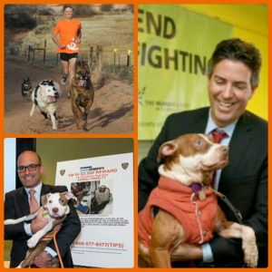 Clockwise: Best Friends Animal Society president Gregory Castle, HSUS president Wayne Pacelle, and ASPCA president Matthew Bershadker.