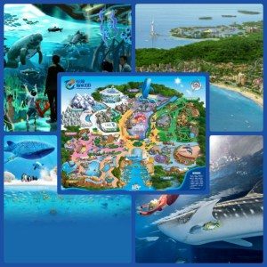 Chimelong Ocean Kingdom promotional images.