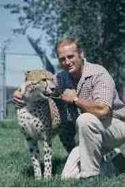 Al Oeming with his cheetah Tawana.
