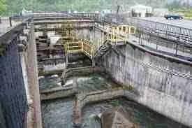 Bonneville dam fish ladder.  (Wikipedia)