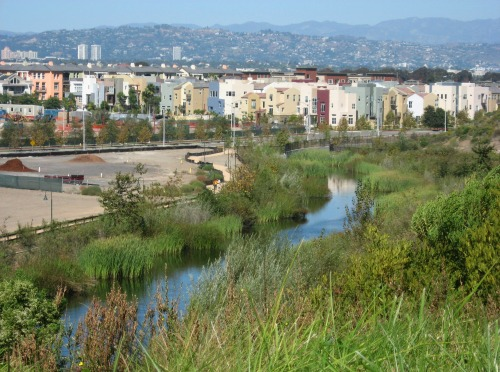 New development in Los Angeles, California. Google Earth