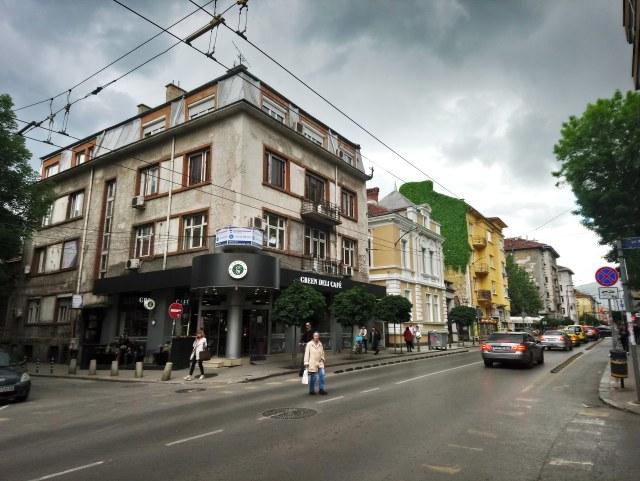 """Ул. """"Раковски"""" със запазени къщи от 30-те години на XX век."""