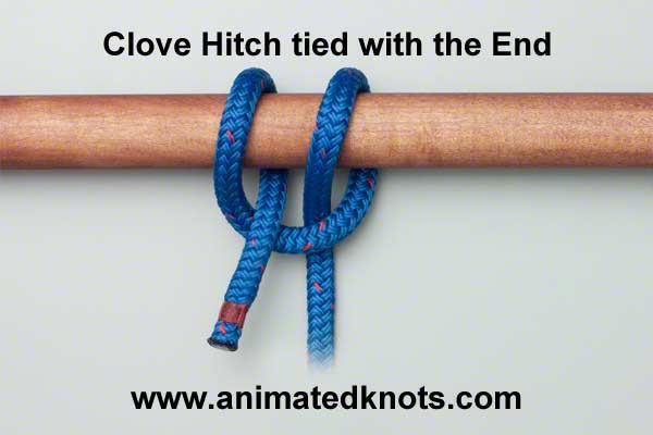Clove Hitch with the End of the Rope Tying ()