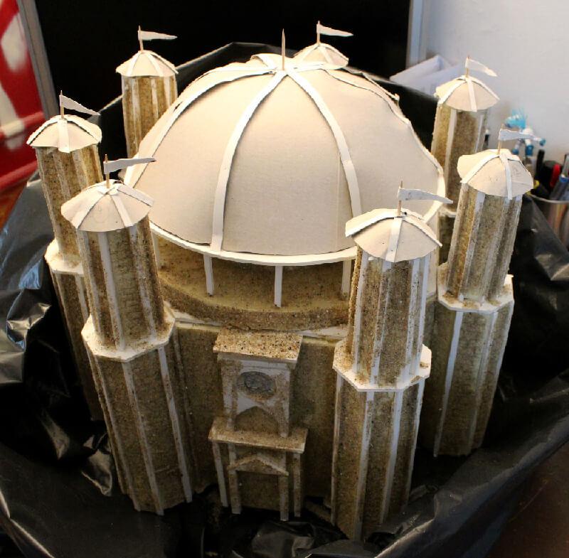 Animation-Figurine-Décors-Temple-de-Baelor-miniature-sable-et-texturisation