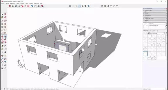 interface graphique de Sketchup