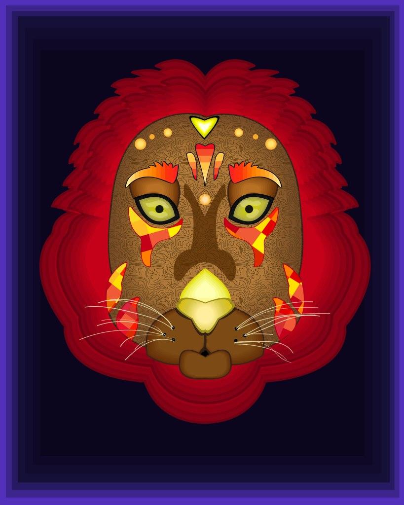 Carlos Carrillo-Euan Lion Illustration