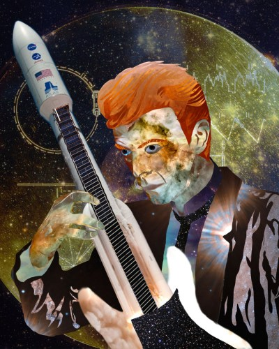 Erin McKelvey David Bowie Photoshop Portrait Collage
