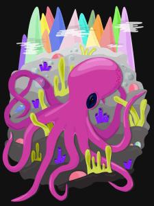 Stephanie Hennan Octopus Illustration