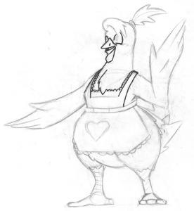Alex Richardson May-belle Mascot Sketch