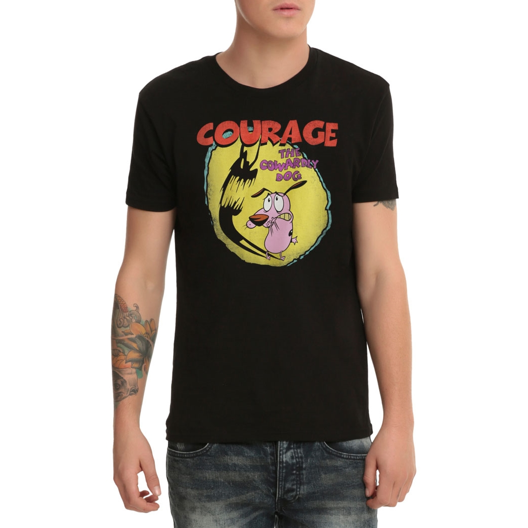 Courage The Cowardly Dog Shadow Logo T Shirt