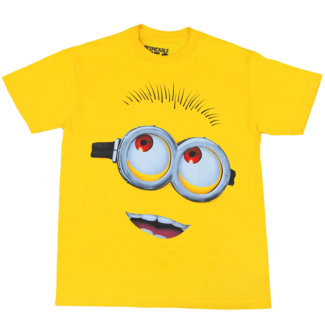 Despicable Me Shirts Despicable Me Minion Face Youth