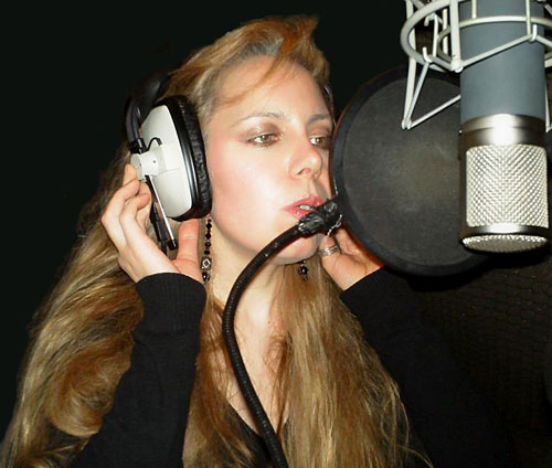 I.V. Webb records the voiceover for Yellow Dustbin.